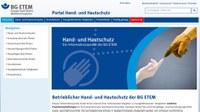Hauterkrankungen nehmen Platz 1 unter den beruflich bedingten Erkrankungen ein. Die BG ETEM stellt ein Onlineportal zum Thema Hand- und Hautschutz zur Verfügung, das leicht zu bedienen ist und vielseitige Hilfe bei der Auswahl der nötigen Schutzprodukte bietet.