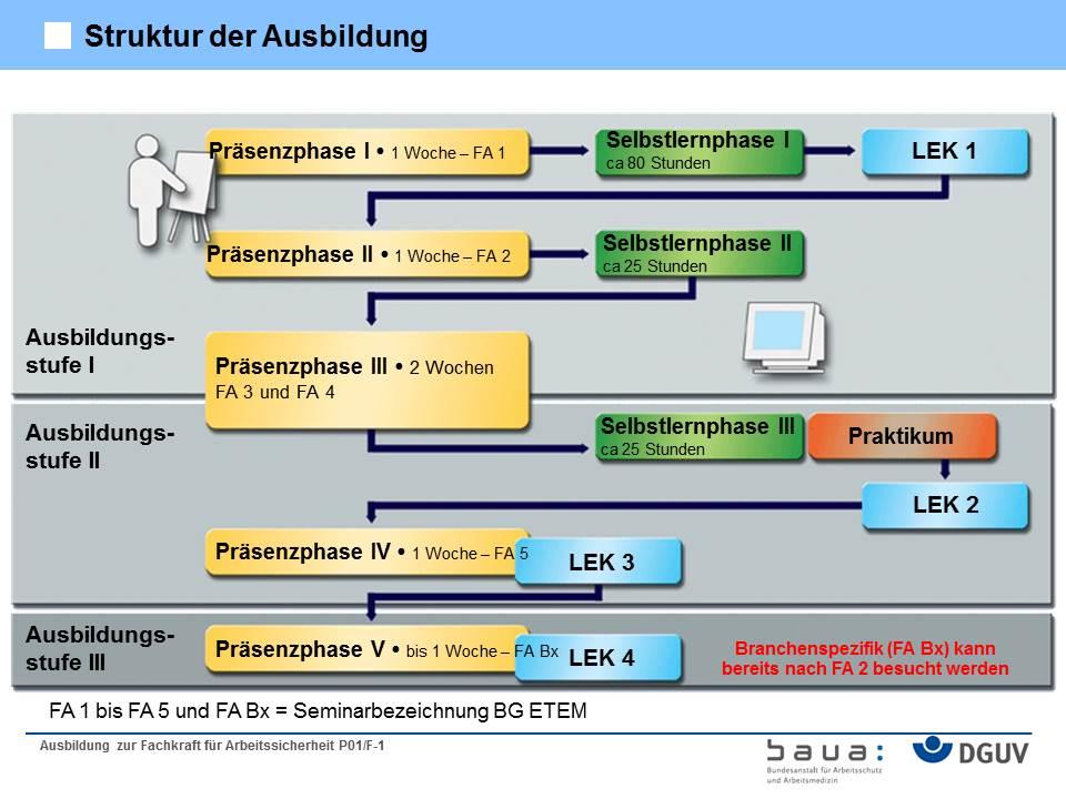 Struktur der Sifa-Ausbildung