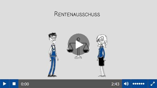 Die Rentenausschüsse der Berufsgenossenschaft.